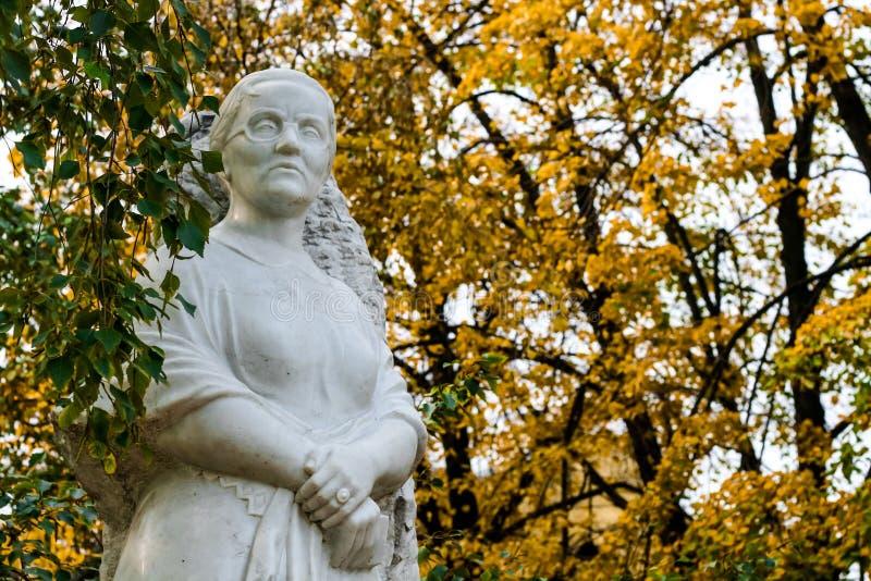玛格丽特Agashina的纪念碑在伏尔加格勒 免版税库存照片