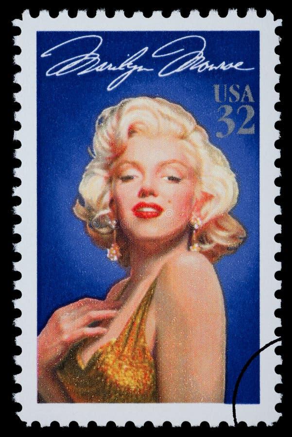 玛里琳・门罗邮票 向量例证