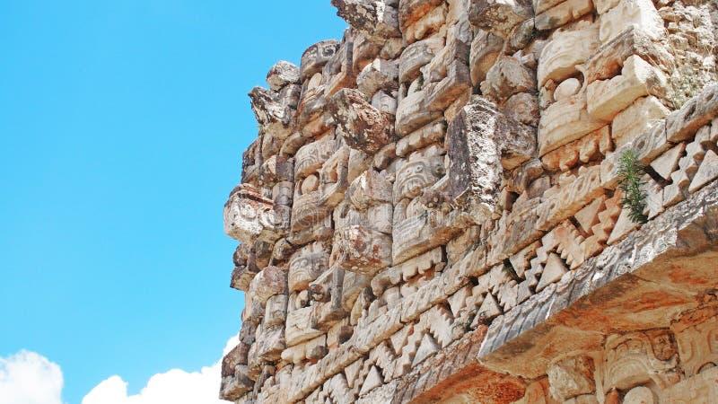 玛雅人寺庙Kabah,墨西哥 免版税库存照片