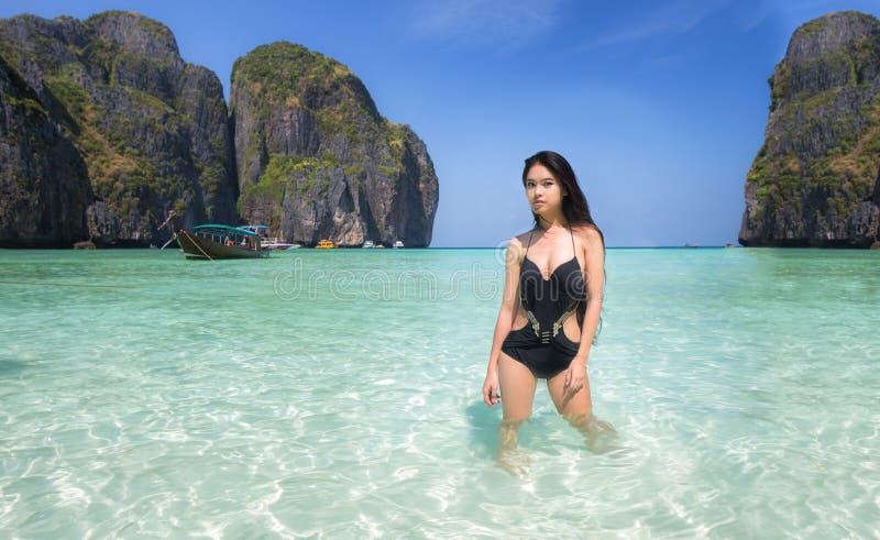 玛雅人海滩 免版税图库摄影
