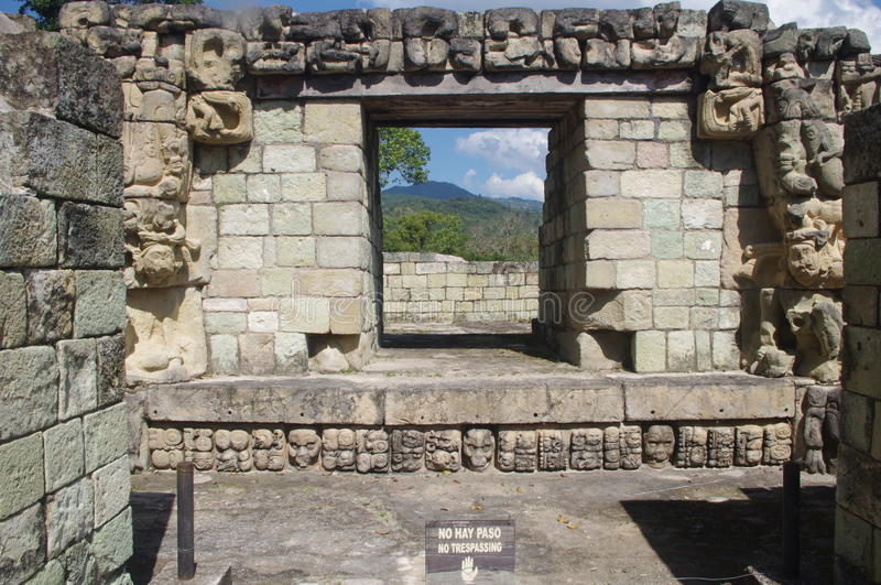 玛雅人的Copan在洪都拉斯 免版税图库摄影