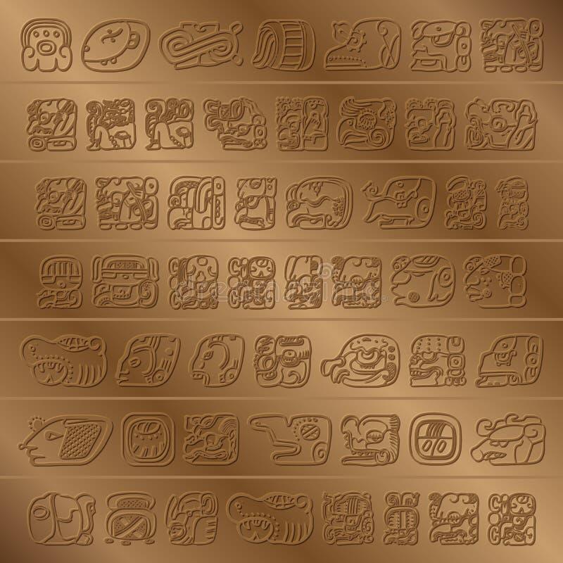 玛雅人纵的沟纹 库存例证