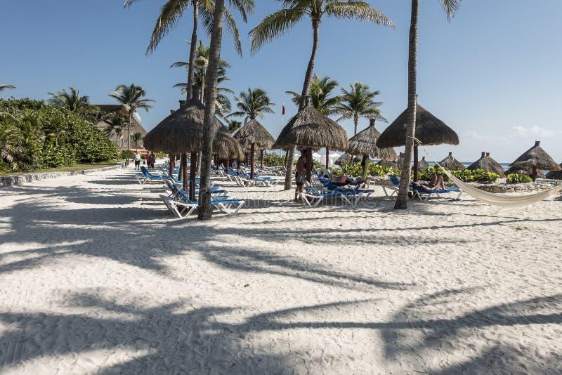 玛雅人里维埃拉海滩 免版税图库摄影