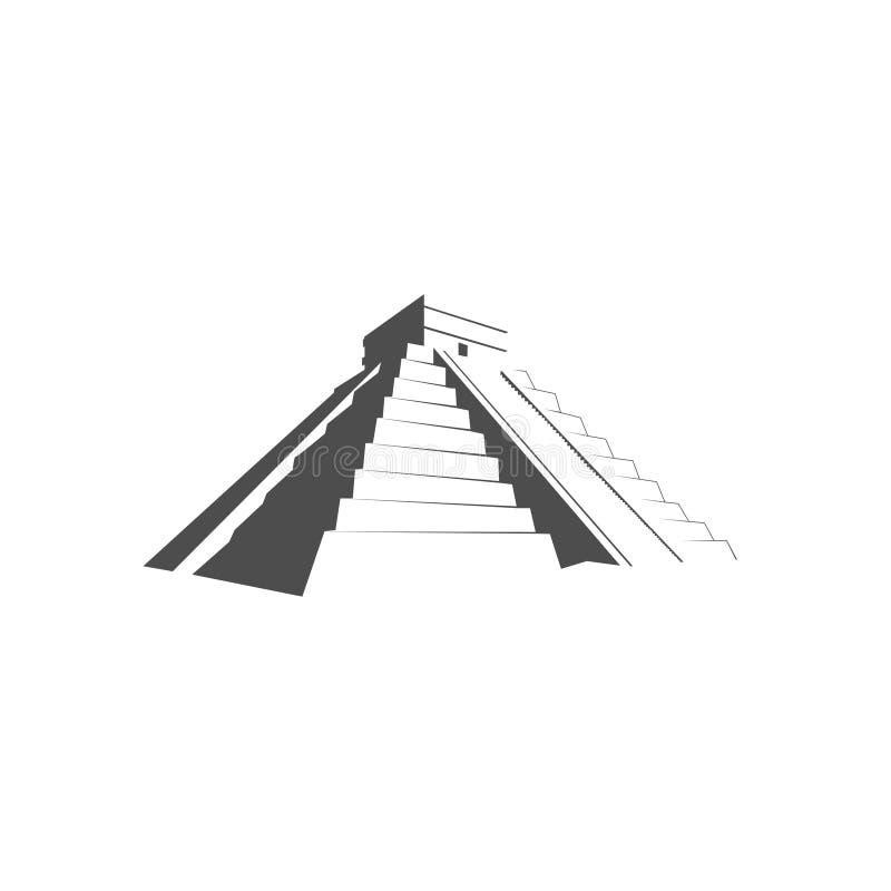 玛雅人金字塔, Kukulkan玛雅金字塔寺庙  向量例证