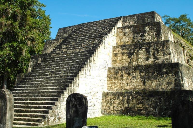 玛雅废墟在危地马拉 库存照片