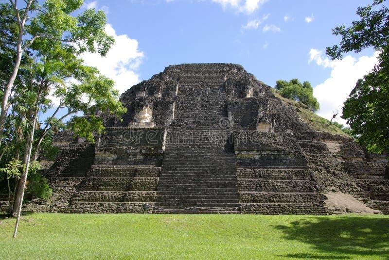 玛雅废墟在危地马拉 免版税库存照片