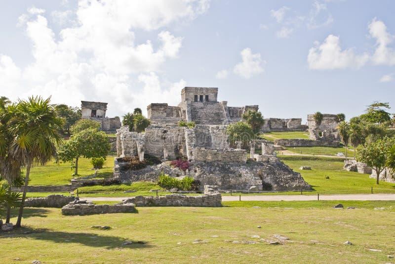 玛雅废墟在Tulum 库存图片