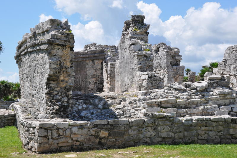 玛雅废墟tulum 免版税图库摄影