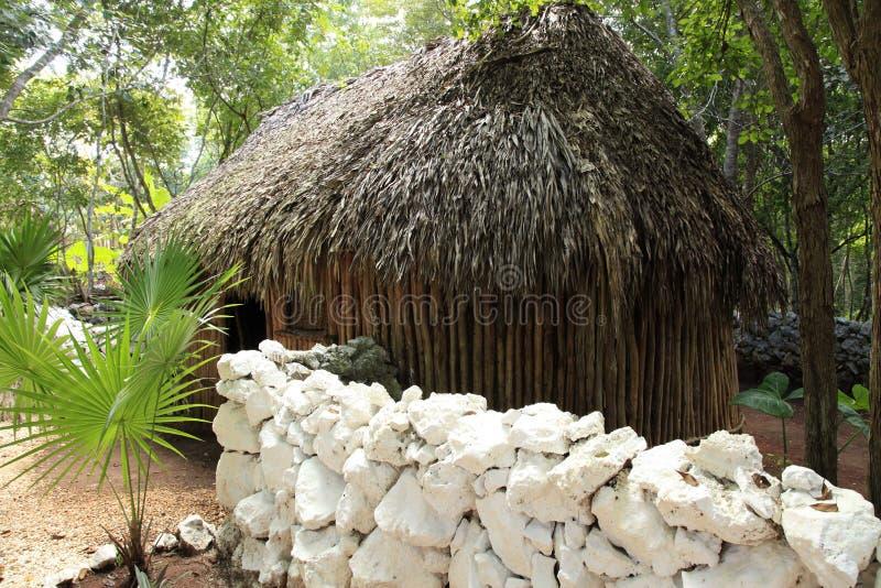 玛雅村庄 免版税图库摄影