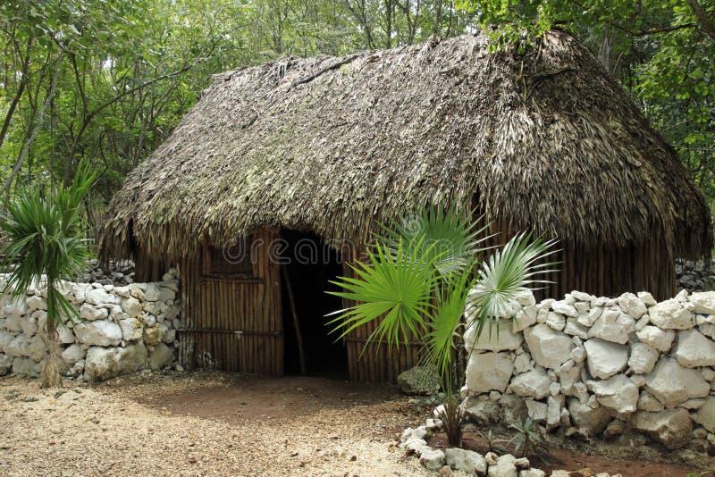 玛雅村庄 免版税库存照片