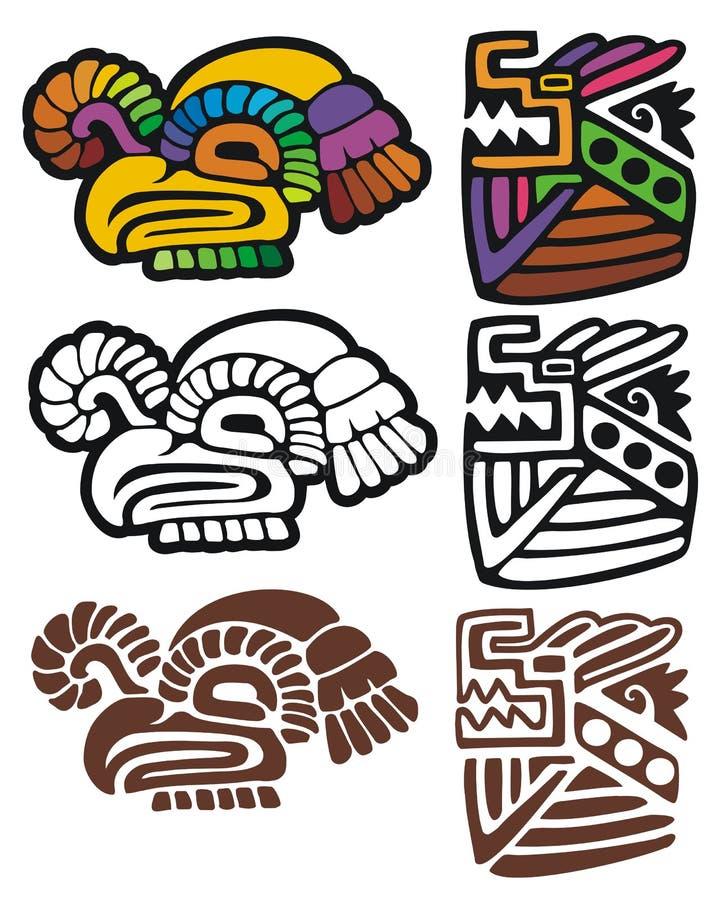 玛雅的纵的沟纹 皇族释放例证