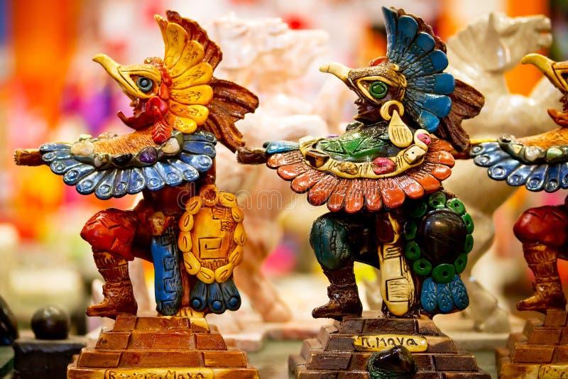 玛雅纪念品雕象 库存图片
