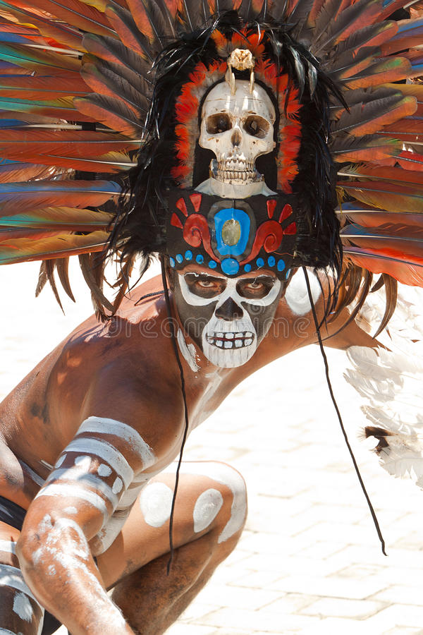 玛雅纵向 免版税图库摄影