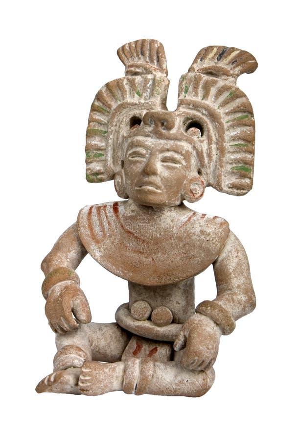 玛雅赤土陶器 库存图片