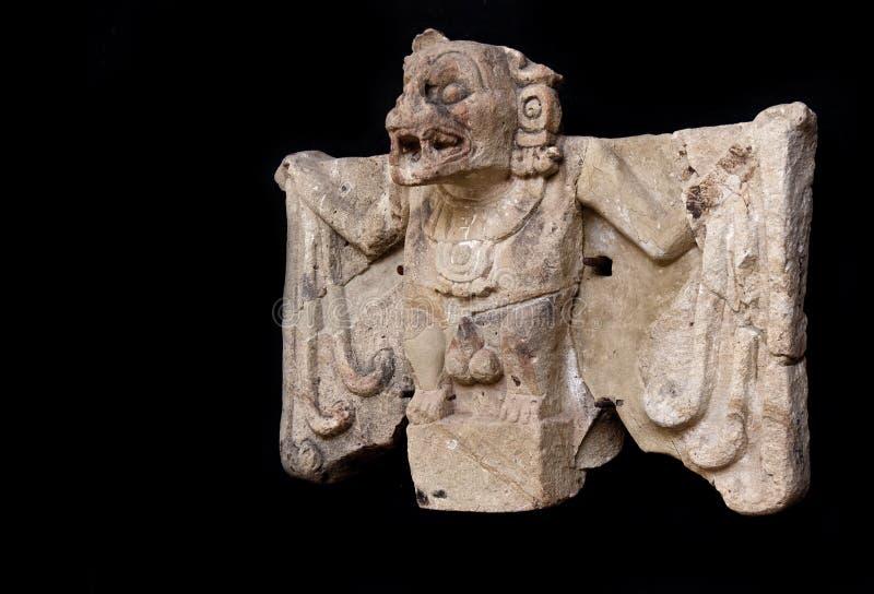 玛雅雕象凶手棒 免版税库存照片