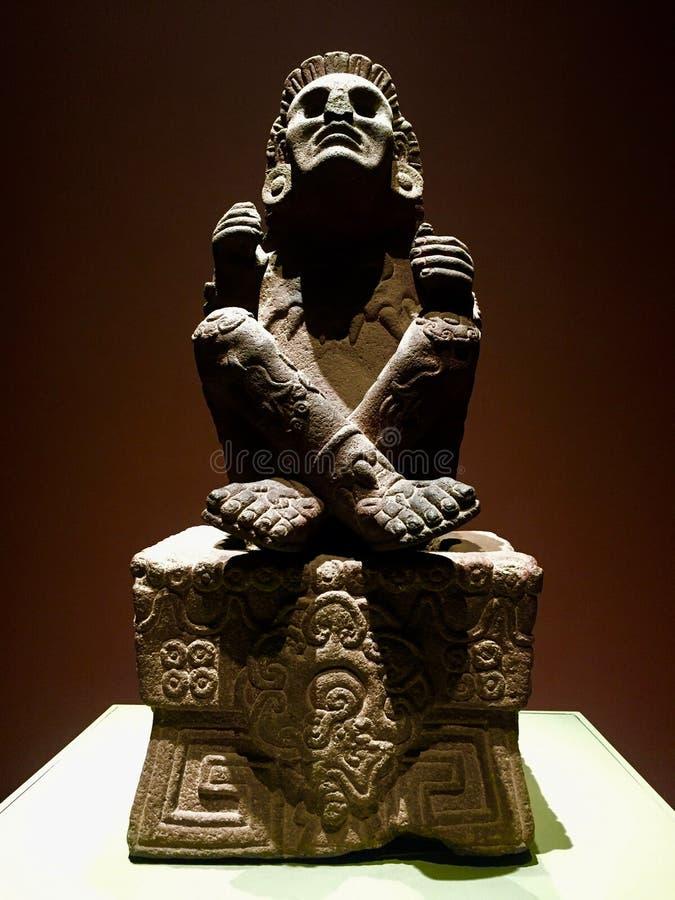 玛雅雕象-墨西哥城 免版税库存照片