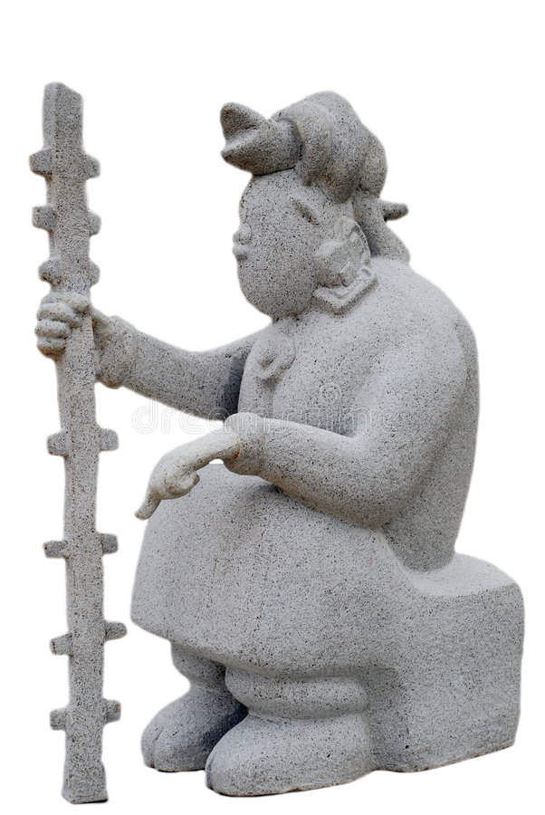 玛雅雕象 库存图片