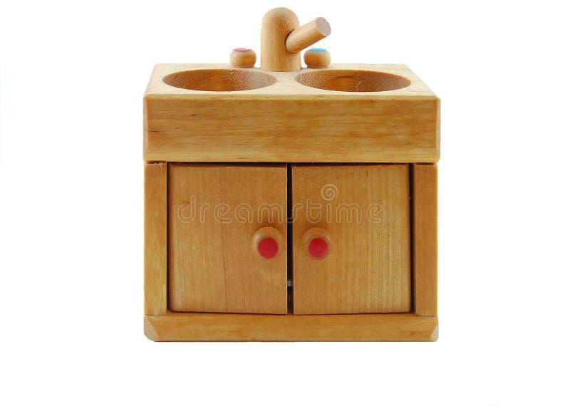 玩偶厨房s水槽 图库摄影