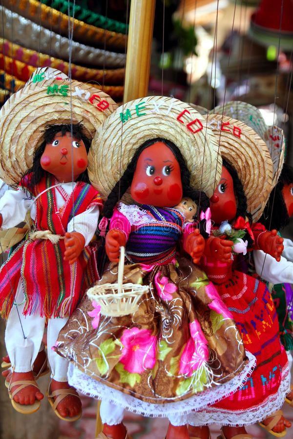 玩偶手工造墨西哥木偶纪念品 免版税库存照片