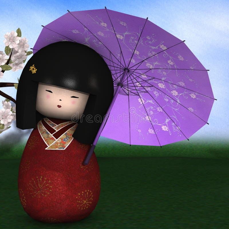 玩偶日本传统 向量例证