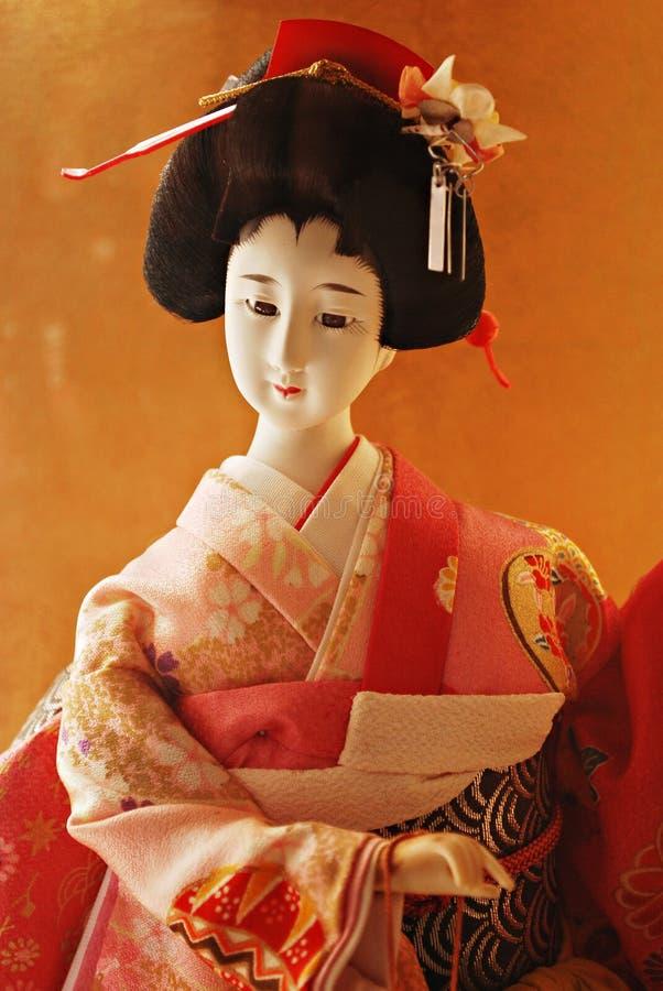 玩偶艺妓日本传统 免版税库存照片
