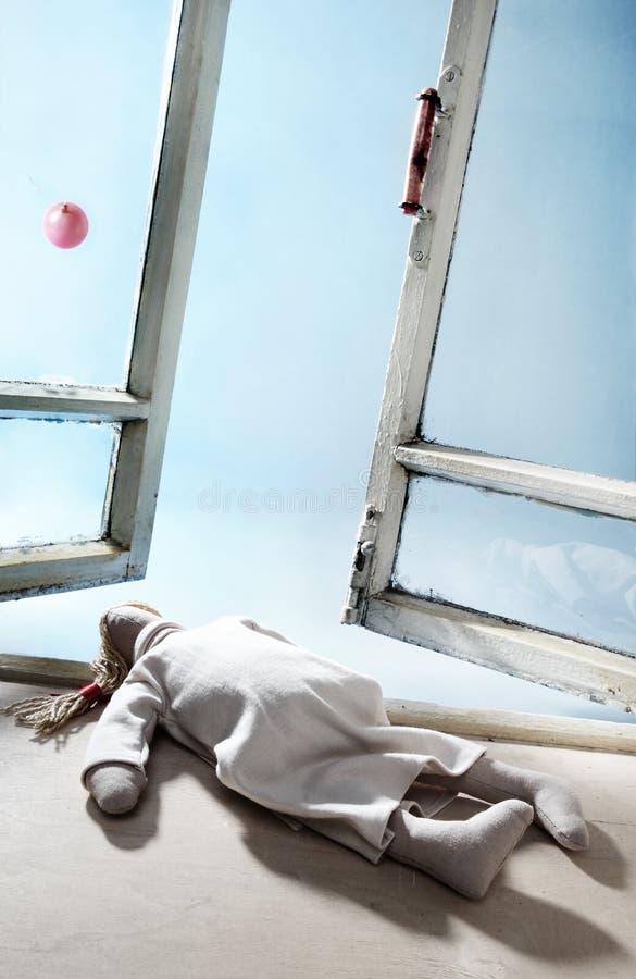 玩偶衰竭的旧布 库存照片