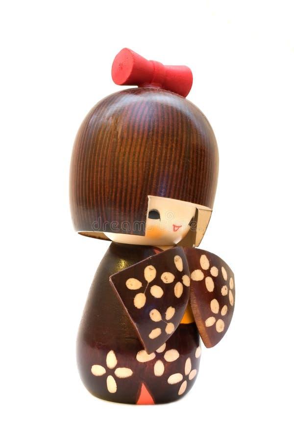 玩偶kokeshi 免版税库存图片