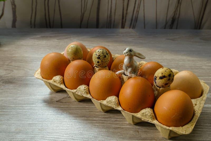 玩具兔宝宝准备了可口礼物 免版税库存照片