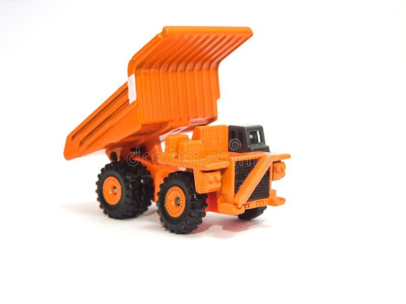 玩具大橙色翻斗车 图库摄影