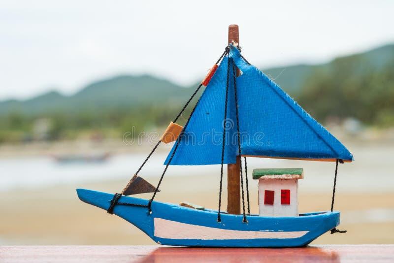 玩具小船 库存照片