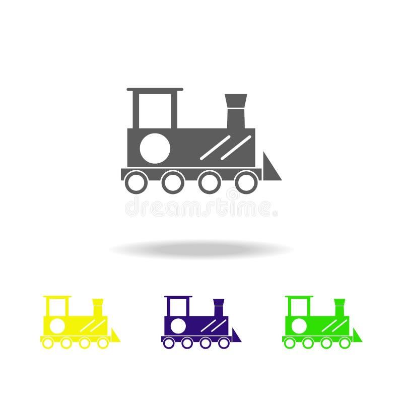玩具引擎上色了象 玩具的元素 能为网,商标,流动应用程序,UI,UX使用 库存例证