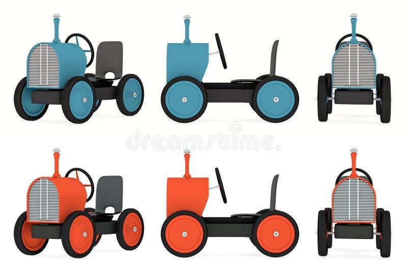 玩具拖拉机汇集 库存例证