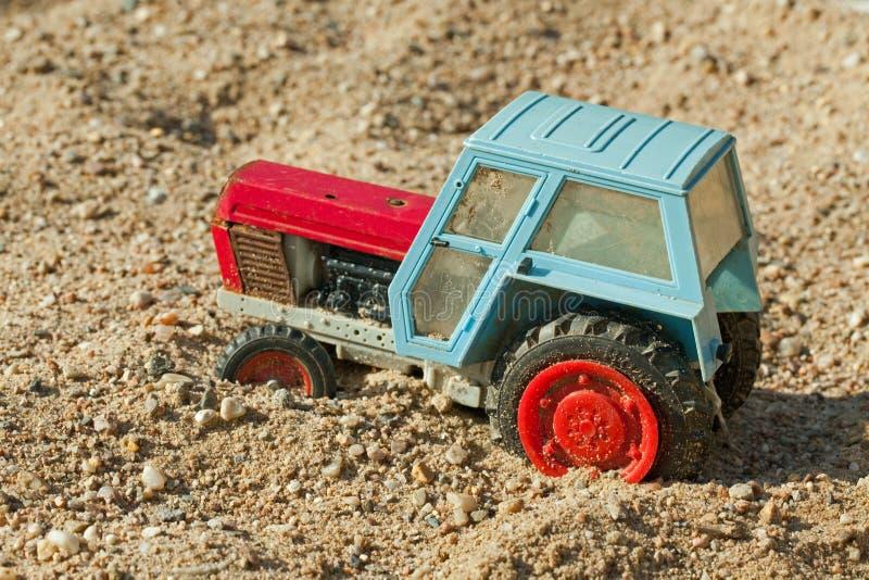 玩具拖拉机 图库摄影