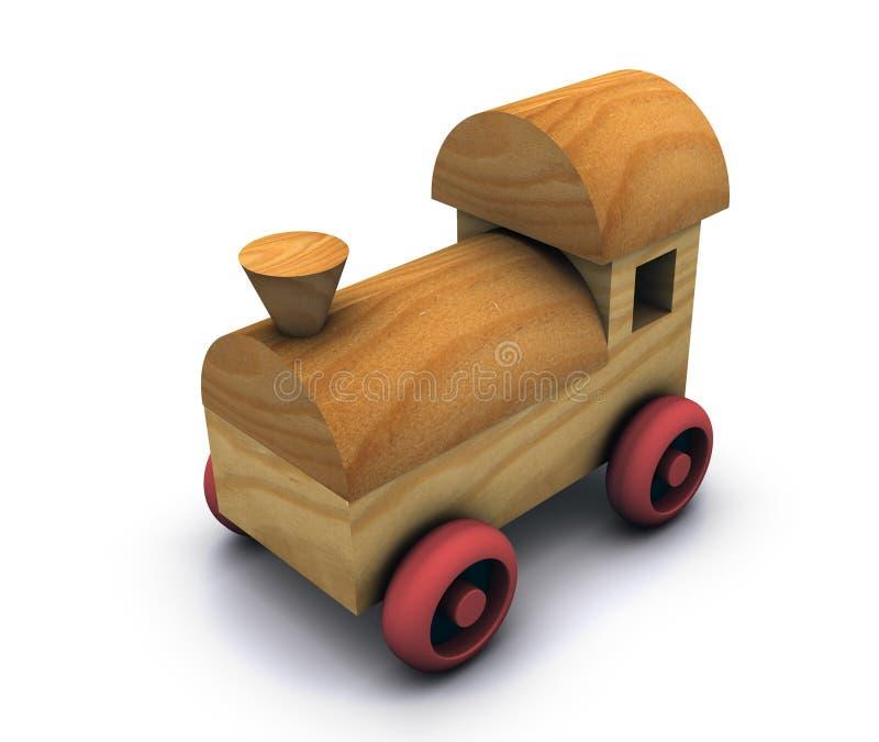 玩具木头 皇族释放例证