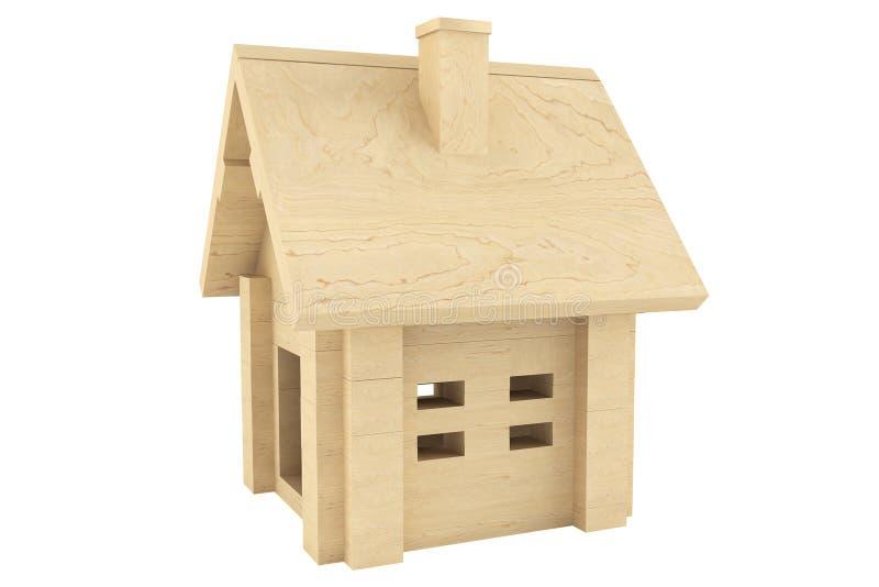 玩具木房子 免版税库存照片