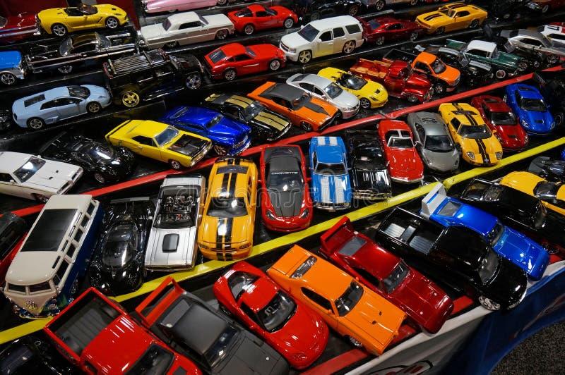玩具汽车模型待售 库存照片