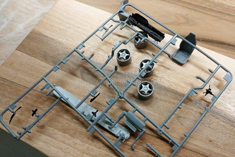 玩具汽车的比例模型的塑料细节 ?? 免版税库存照片