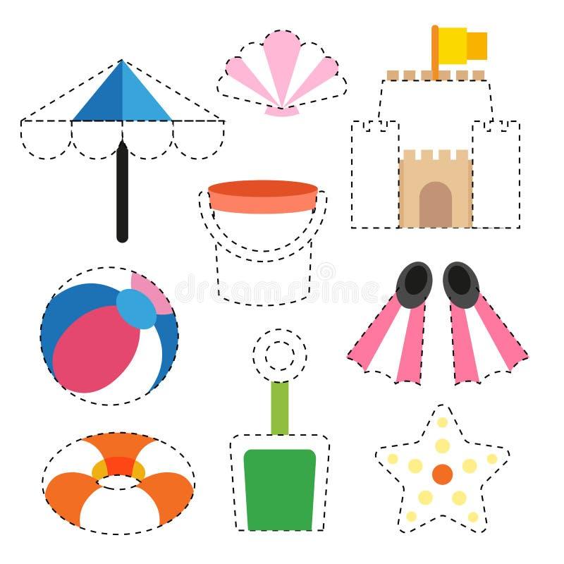 玩具活页练习题传染媒介设计 向量例证