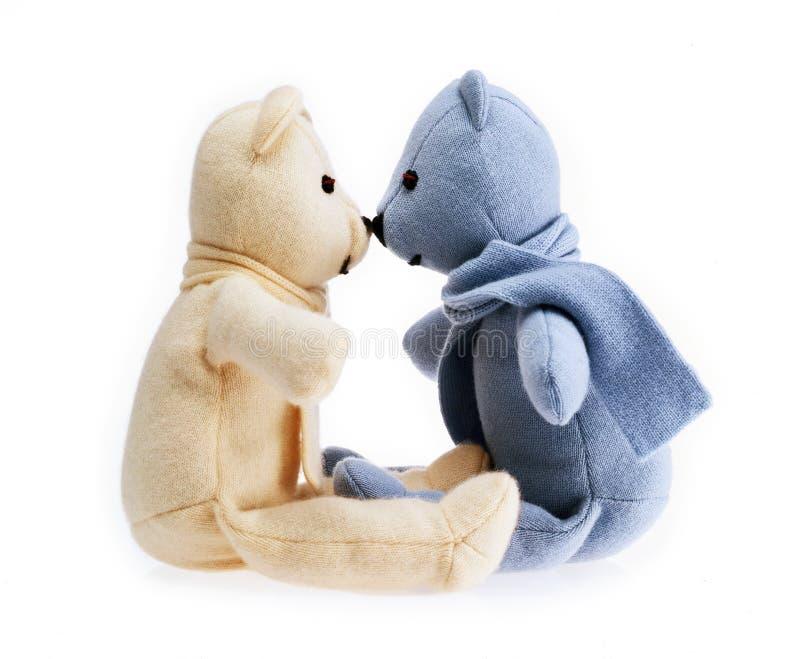 玩具熊夫妇  库存照片