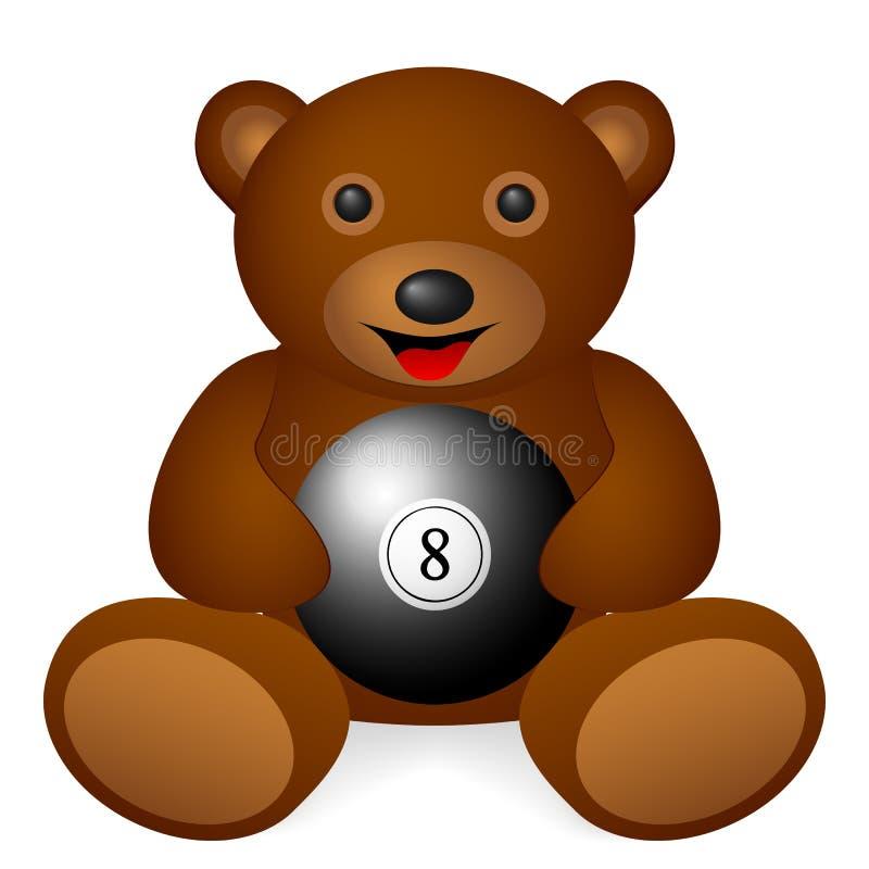 玩具熊撞球 库存例证