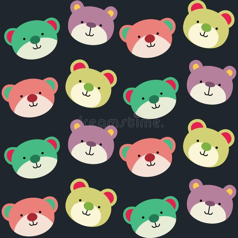 玩具熊无缝的背景样式 免版税库存照片