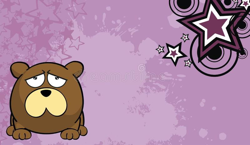 玩具熊球样式动画片background3 库存例证