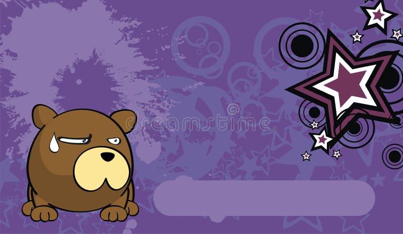 玩具熊球样式动画片background7 库存例证