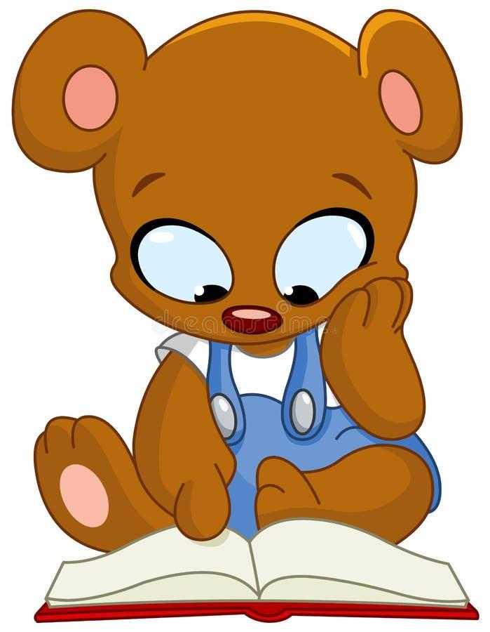 玩具熊阅读书 向量例证