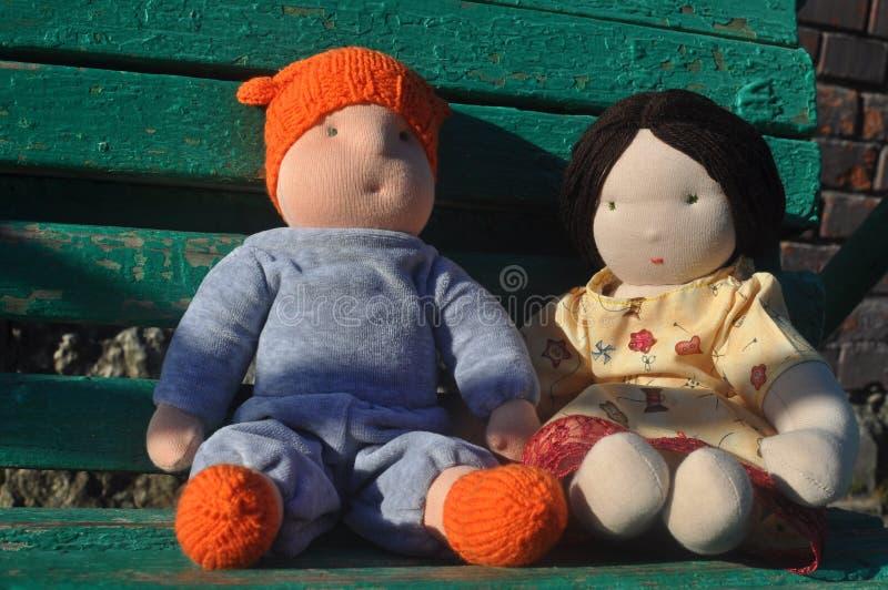 玩具男孩和女孩 免版税图库摄影
