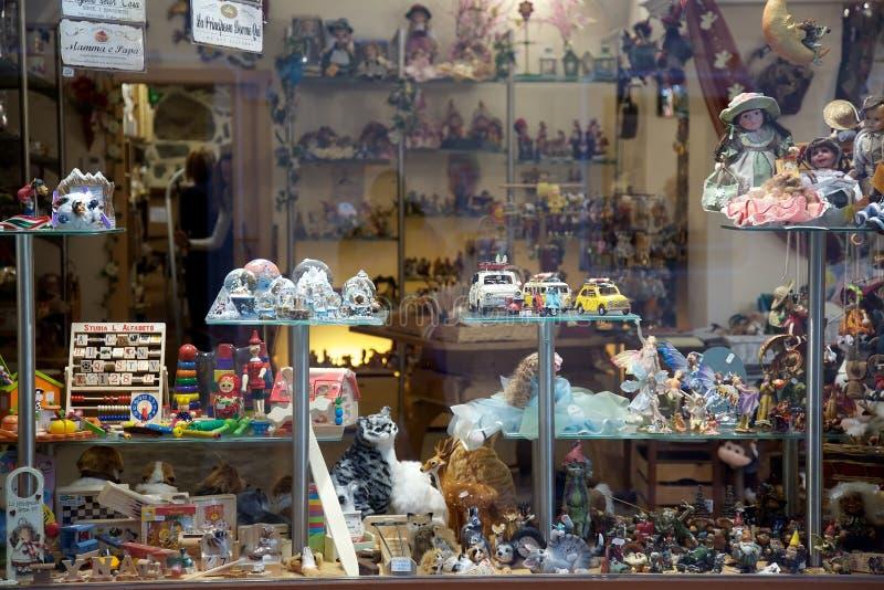 玩具界面或玩具店 免版税库存照片