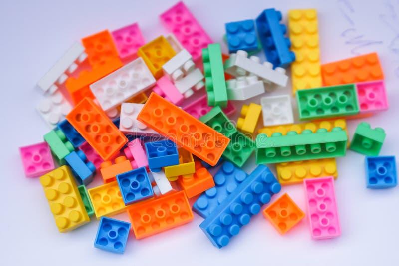 玩具砖 免版税库存照片