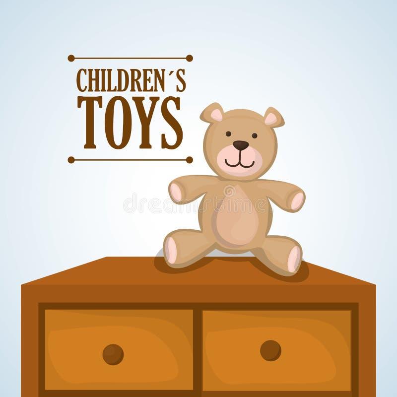 玩具设计、童年和比赛概念 库存例证