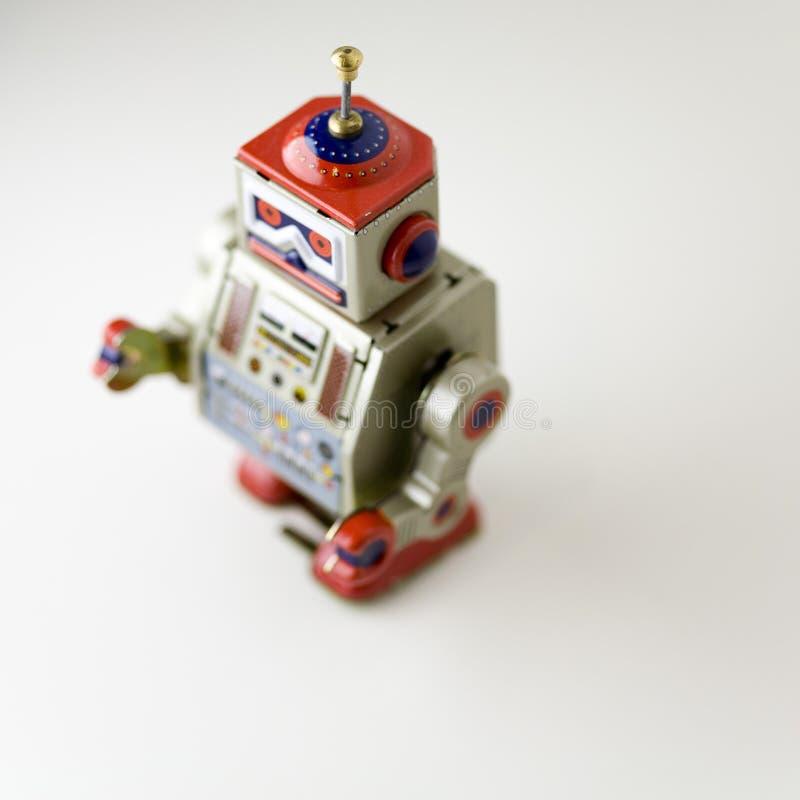 玩具金属机器人 免版税库存图片