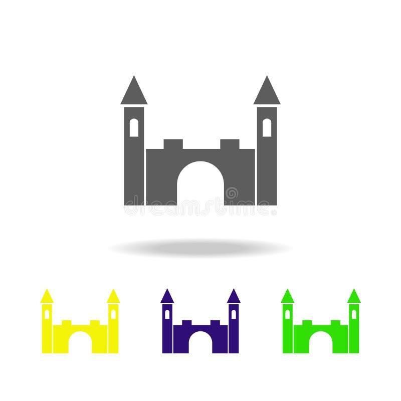 玩具锁上色了象 玩具的元素 能为网,商标,流动应用程序,UI,UX使用 库存例证